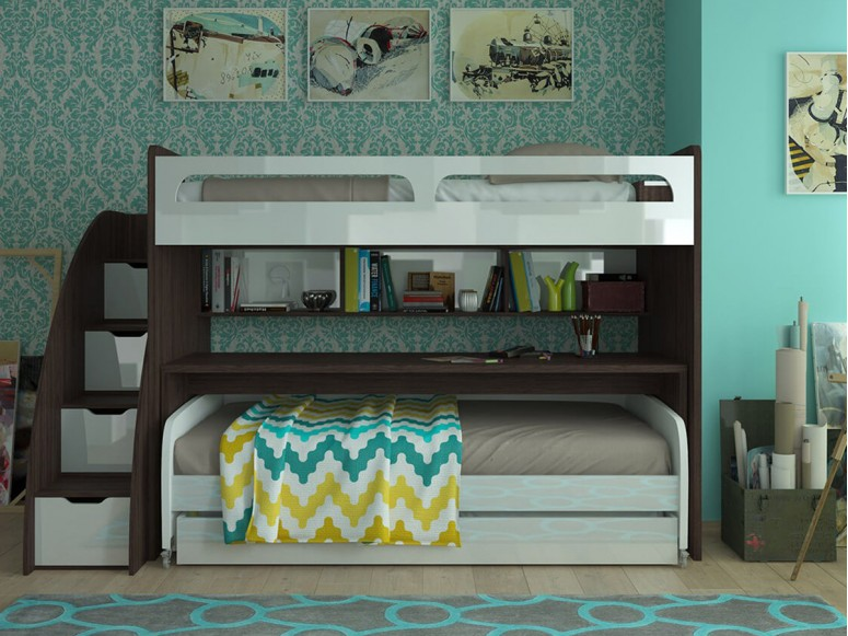Bel Mondo Twin Over Twin/Twin XL Bunk Bed Set