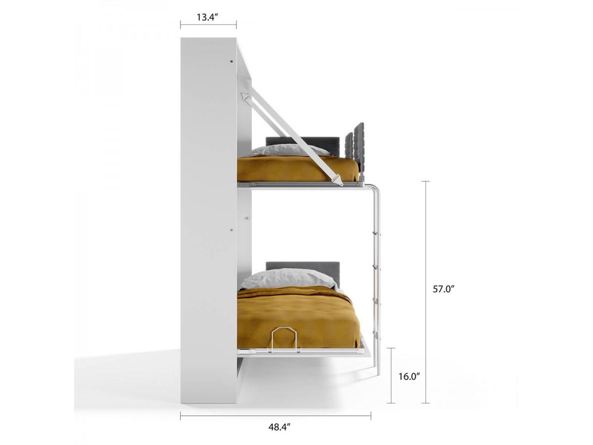 Twin Murphy Wall Bunk Bed Pensiero