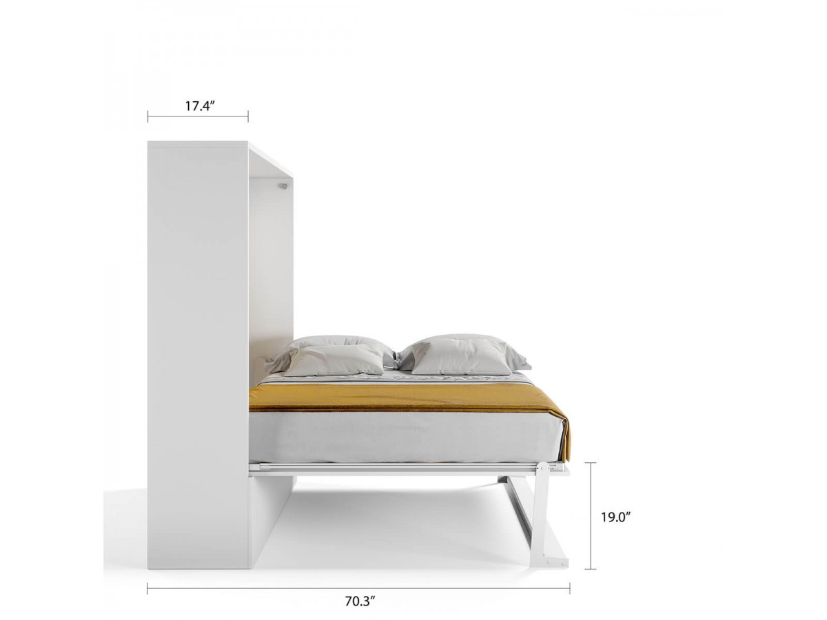 Picture of: Royal Horizontal Queen Murphy Wall Bed