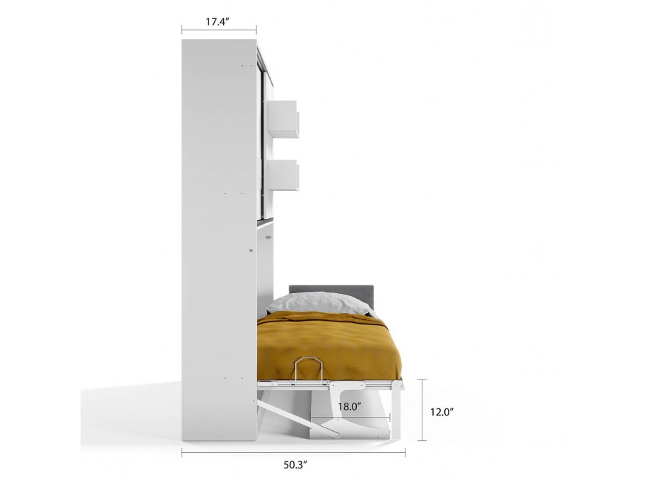 Parete Letto - Twin Wall Bed System with Desk