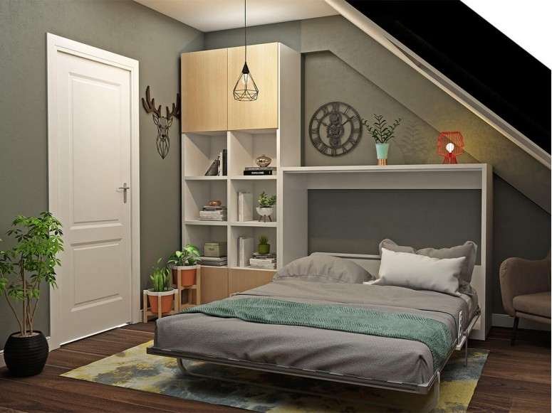 Double Fold Queen Murphy Wall Bed