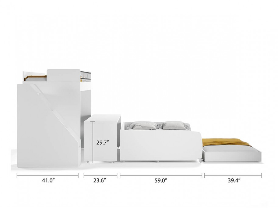 Eco Bel Mondo Twin Over Full/Full XL Bunk Bed Set