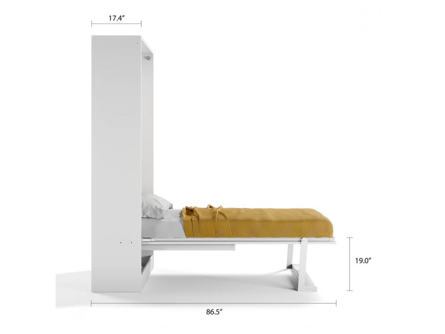 Royal Twin / Twin XL Wall Bed with Folding Table