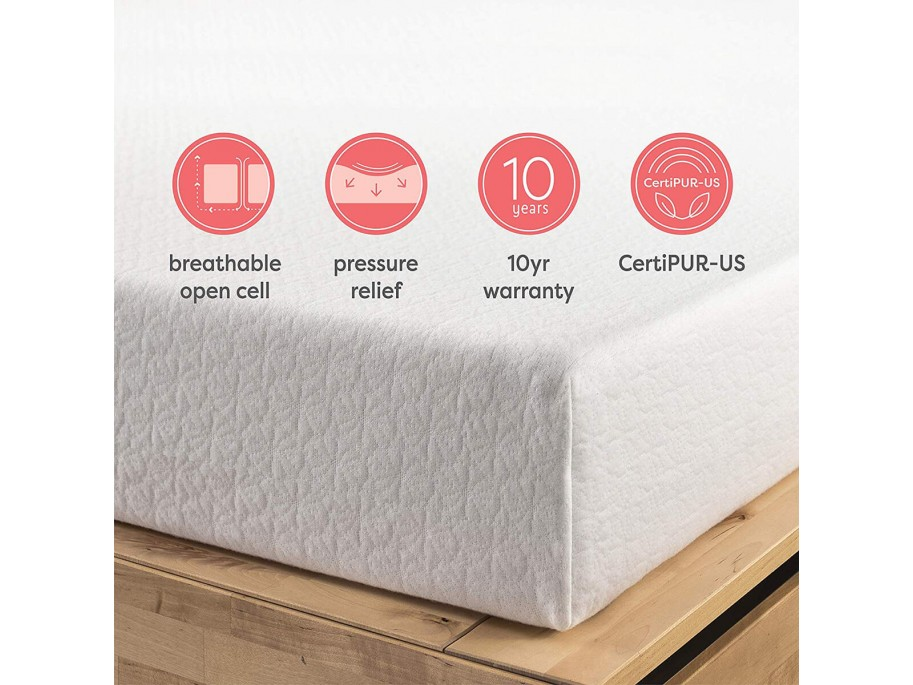 "Multimo TWIN XL 10"" Memory Foam Mattress"