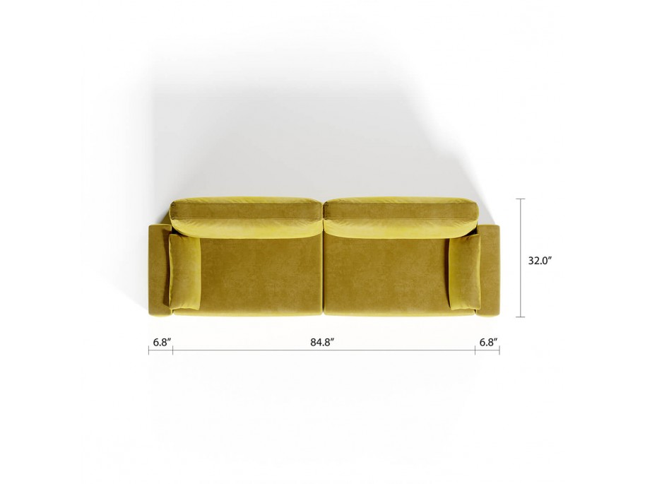 Royal Horizontal Queen 2 Seat Sofa