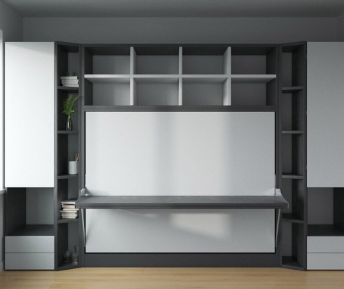 Spazio - Full Size Wall Bed with Desk 1
