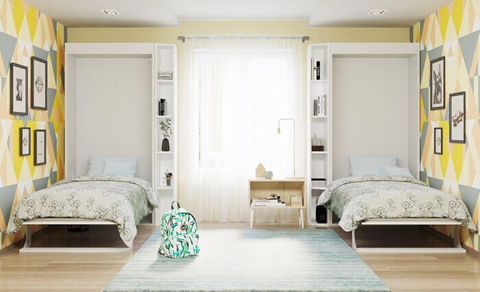 No Room Is Too Small For Bellezza Twin Size Wall Bed